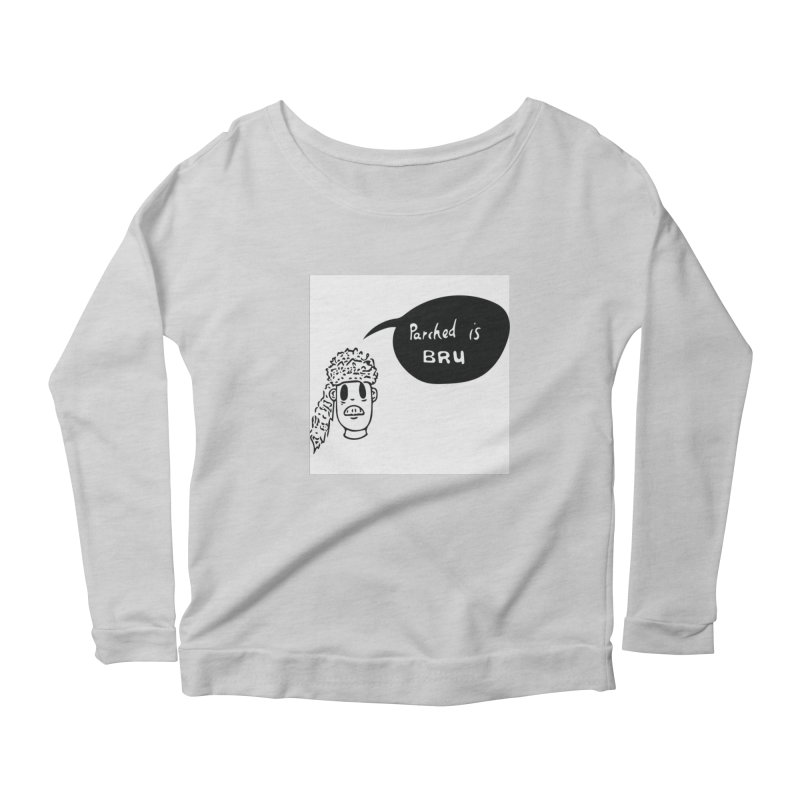 parched is  Women's Longsleeve Scoopneck  by ezlaurent's Artist Shop