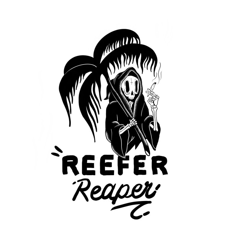 Reefer Reaper Men's Zip-Up Hoody by the ezlaurent show