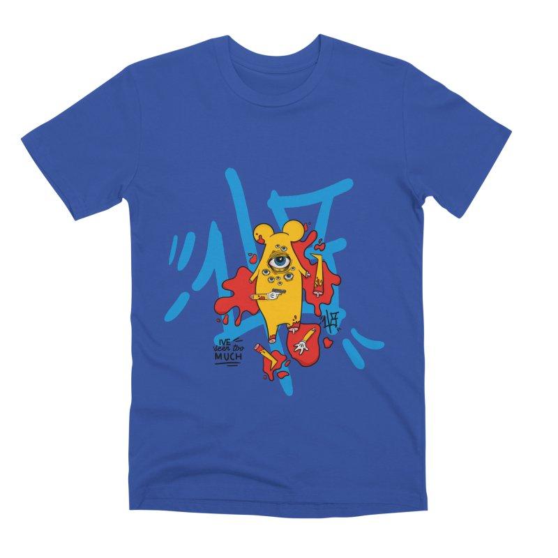seen too much Men's Premium T-Shirt by the ezlaurent show