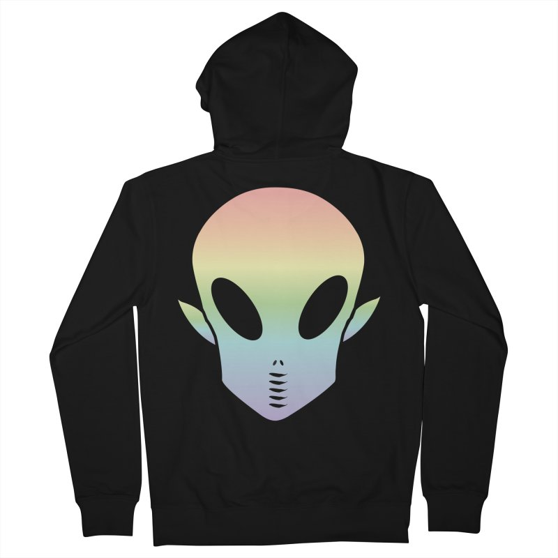 EZO ALIEN Men's French Terry Zip-Up Hoody by ezo's Artist Shop