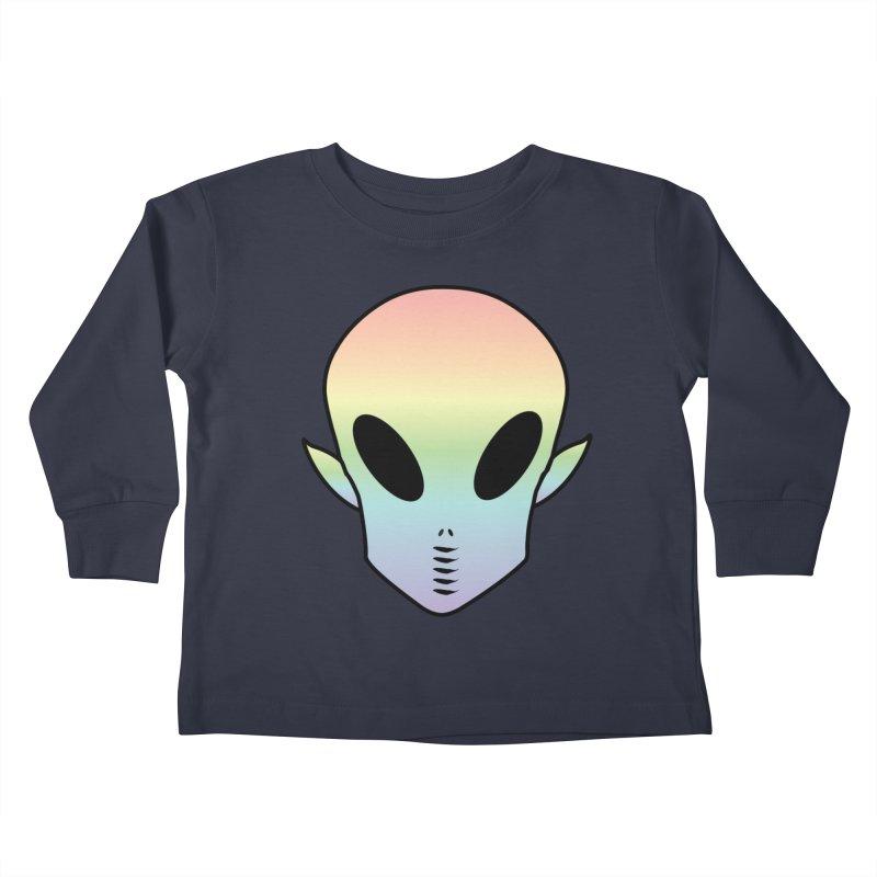 EZO ALIEN Kids Toddler Longsleeve T-Shirt by ezo's Artist Shop