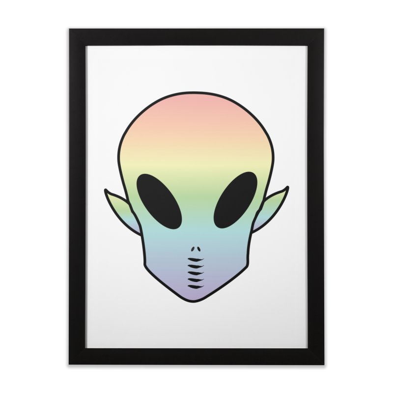 EZO ALIEN Home Framed Fine Art Print by ezo's Artist Shop