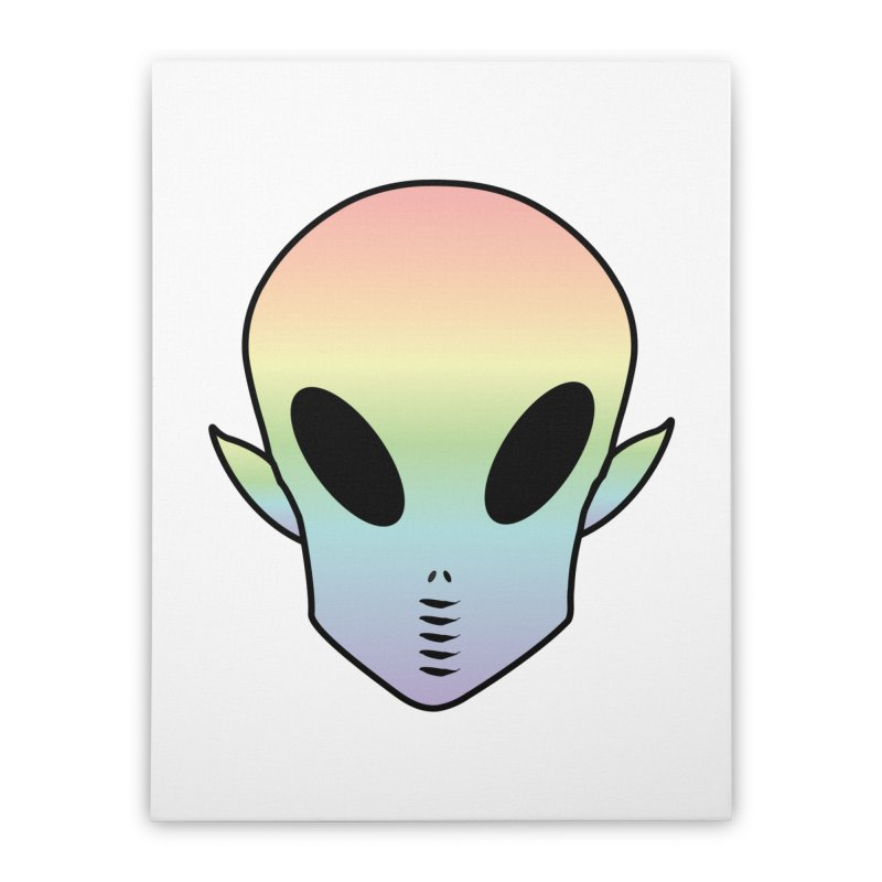 EZO ALIEN Home Stretched Canvas by ezo's Artist Shop