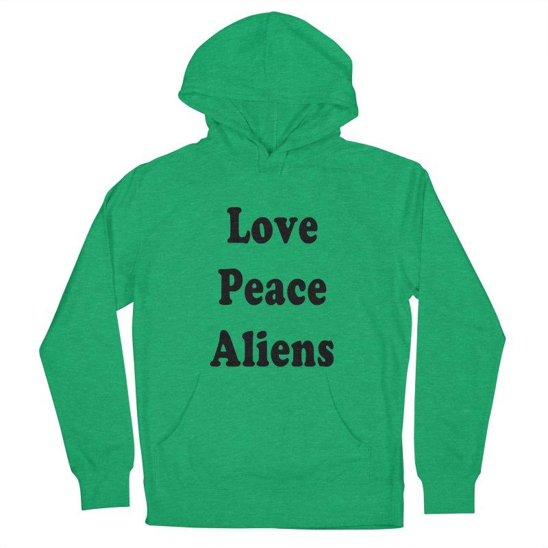 LOVE, PEACE, ALIENS Men's Pullover Hoody by ezo's Artist Shop