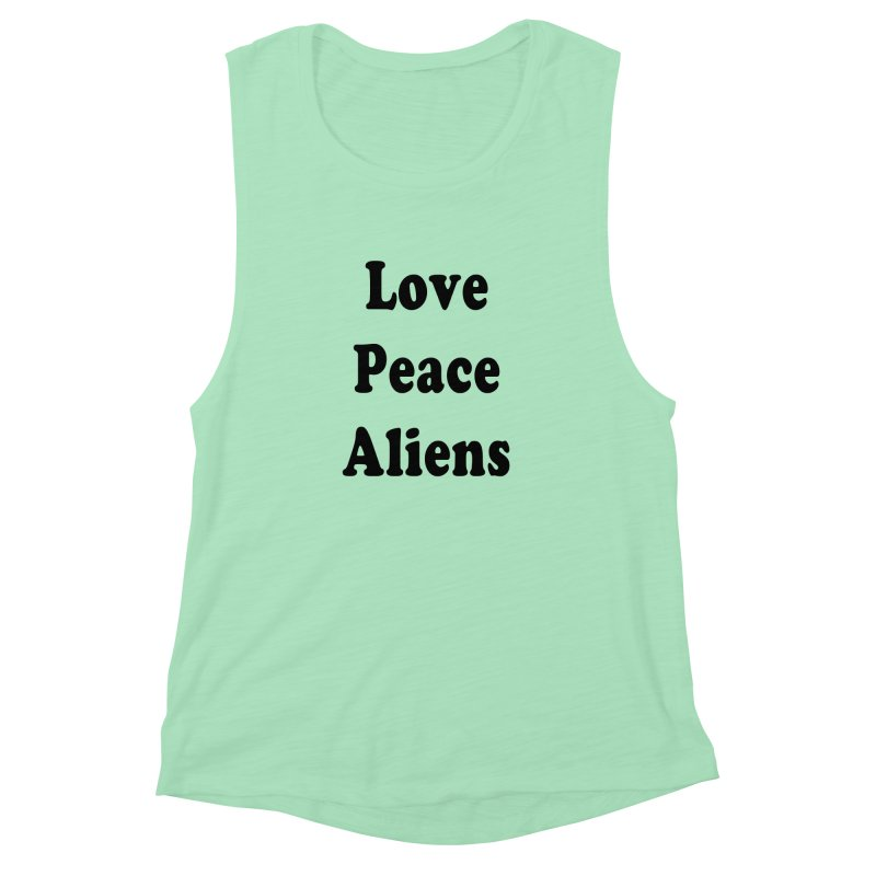 LOVE, PEACE, ALIENS   by ezo's Artist Shop
