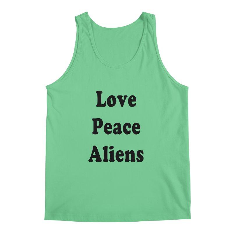 LOVE, PEACE, ALIENS Men's Tank by ezo's Artist Shop