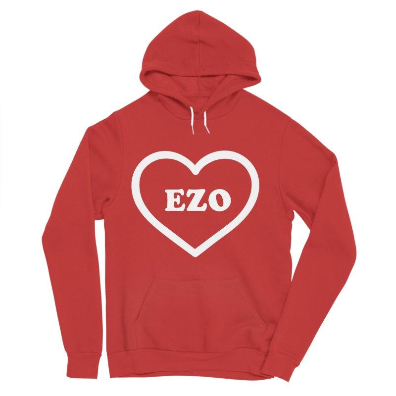 EZO HEART Women's Sponge Fleece Pullover Hoody by ezo's Artist Shop