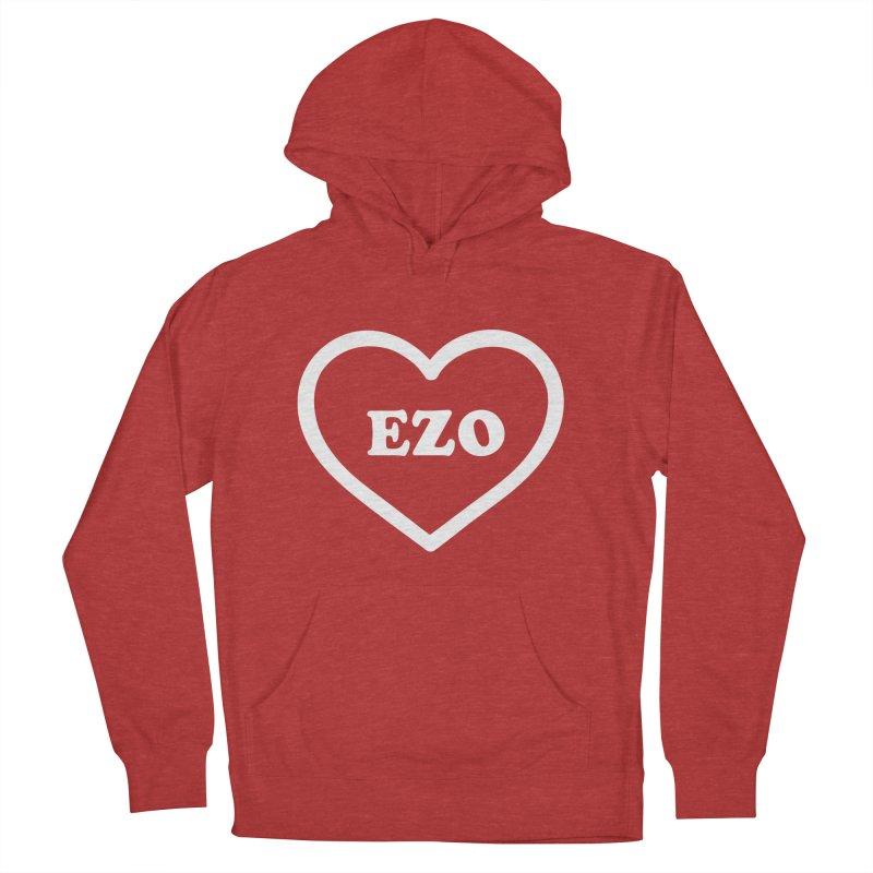 EZO HEART Women's French Terry Pullover Hoody by ezo's Artist Shop
