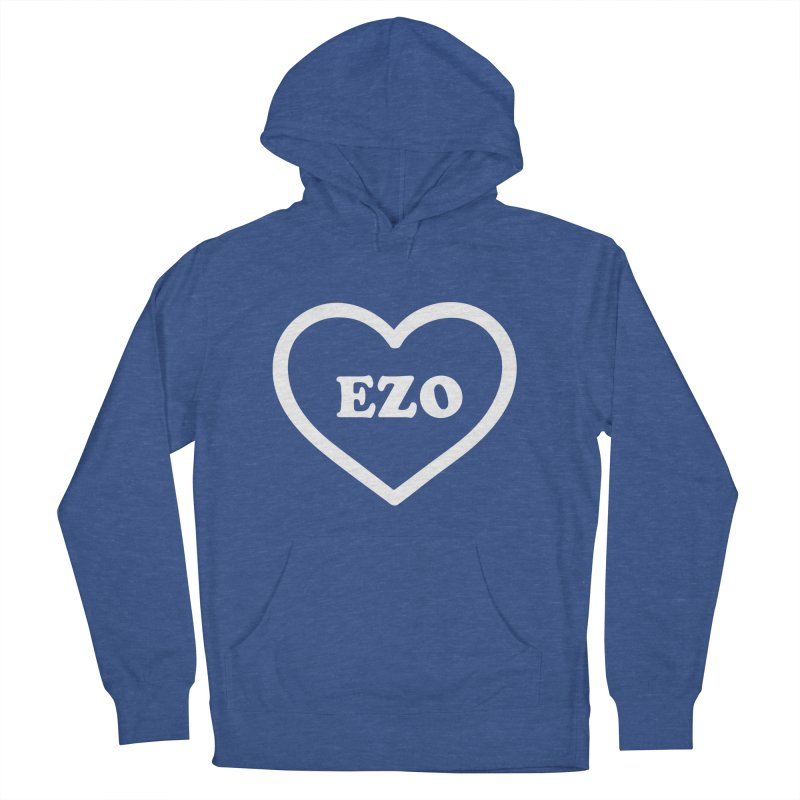 EZO HEART Men's French Terry Pullover Hoody by ezo's Artist Shop