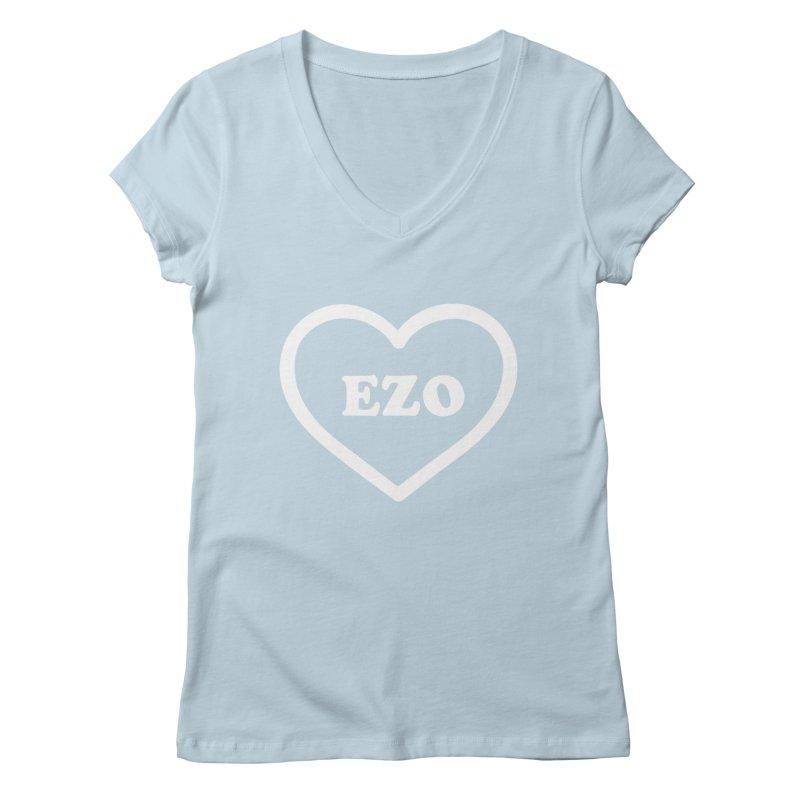 EZO HEART Women's Regular V-Neck by ezo's Artist Shop