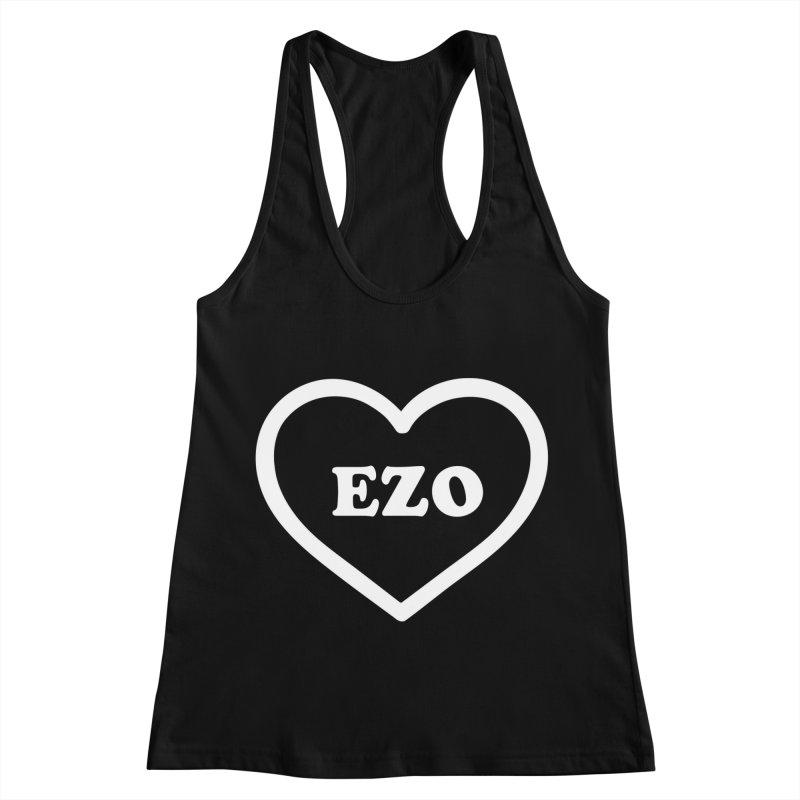 EZO HEART Women's Racerback Tank by ezo's Artist Shop