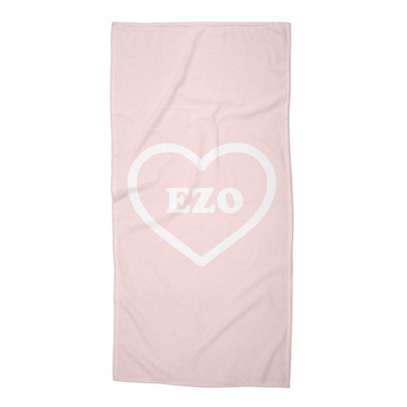 EZO HEART Accessories Beach Towel by ezo's Artist Shop