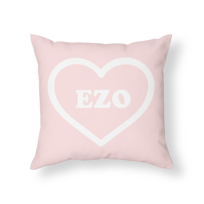 EZO HEART Home Throw Pillow by ezo's Artist Shop