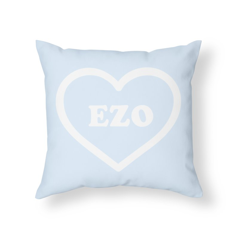 EZO HEART (pastel blue) Home Throw Pillow by ezo's Artist Shop