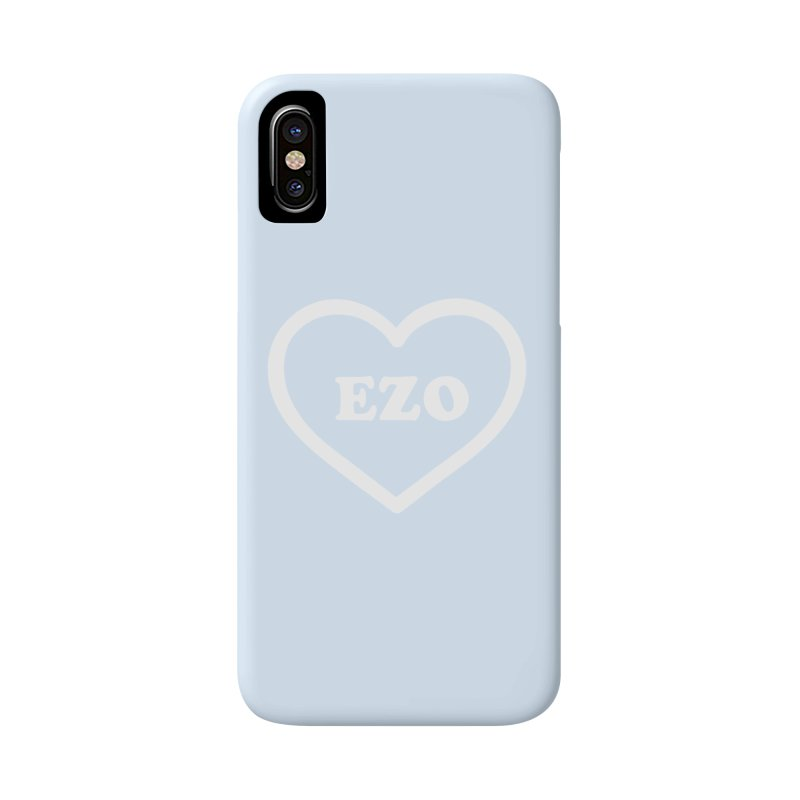 EZO HEART (pastel blue) Accessories Phone Case by ezo's Artist Shop