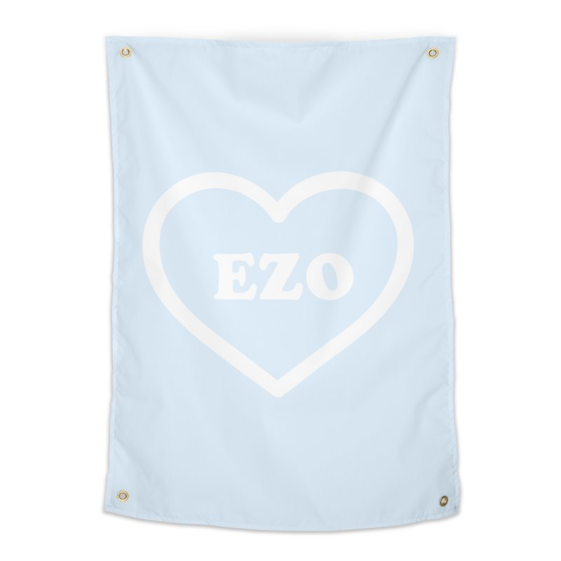 EZO HEART (pastel blue) Home Tapestry by ezo's Artist Shop