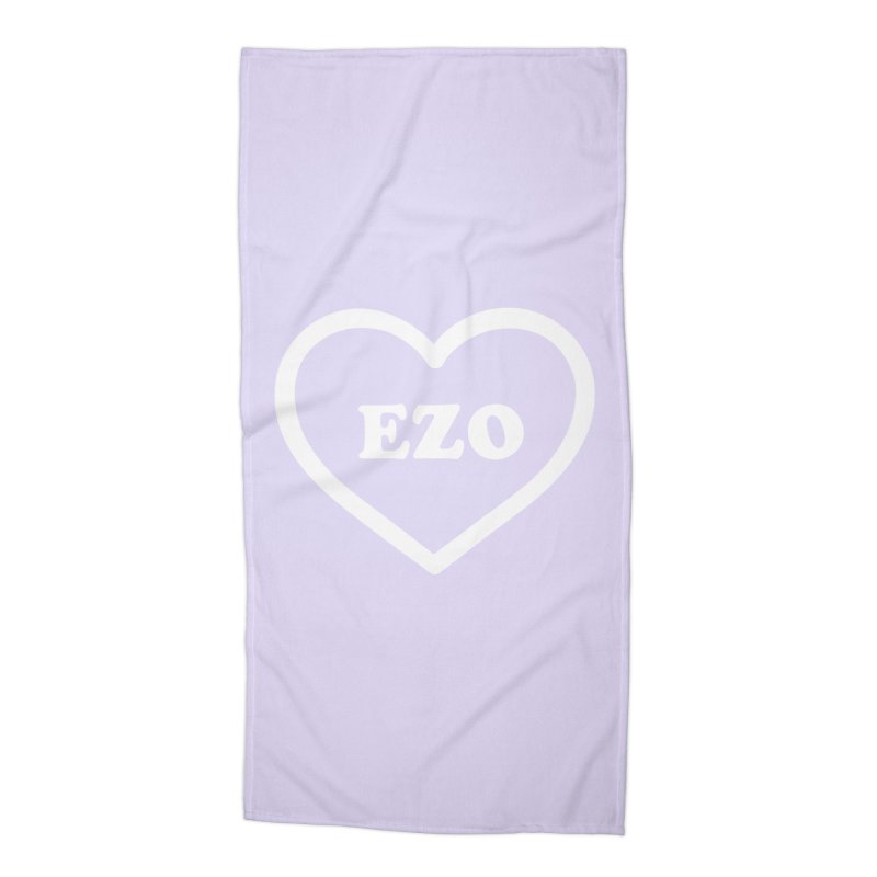 EZO HEART (pastel purple) Accessories Beach Towel by ezo's Artist Shop