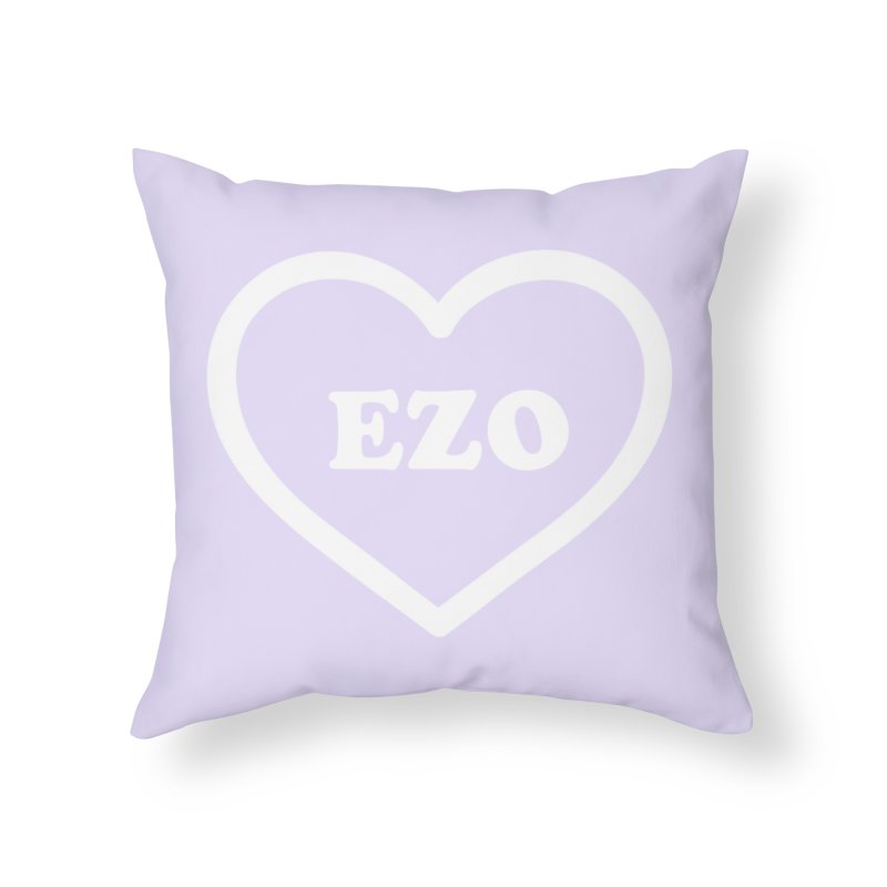 EZO HEART (pastel purple) Home Throw Pillow by ezo's Artist Shop