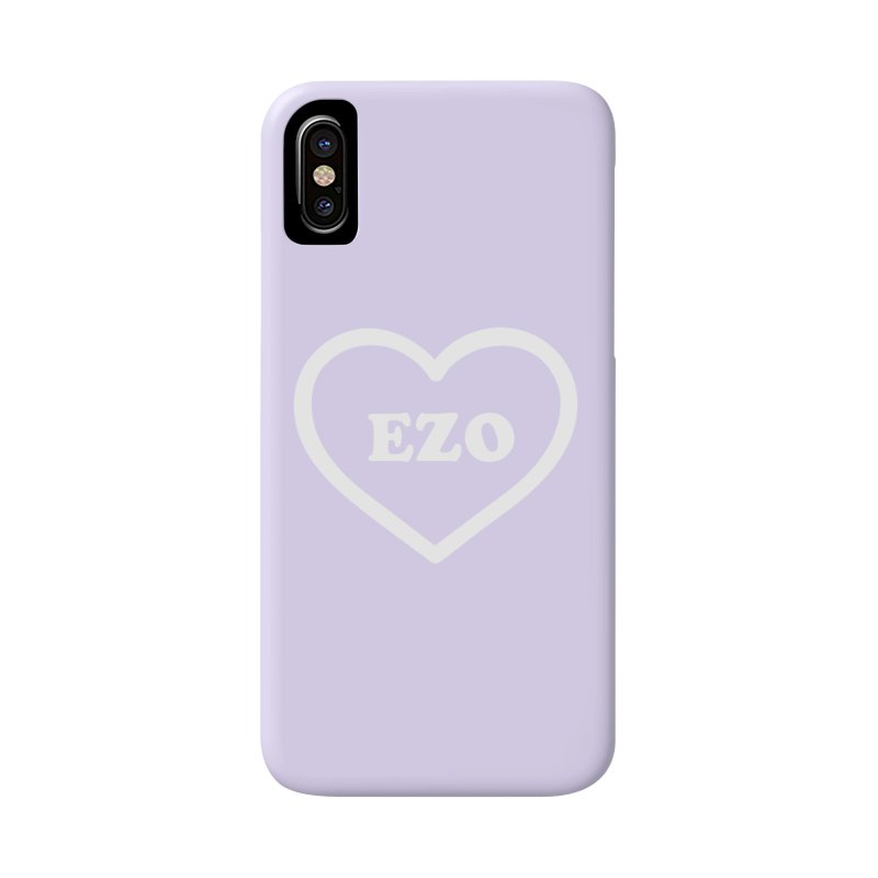 EZO HEART (pastel purple) Accessories Phone Case by ezo's Artist Shop