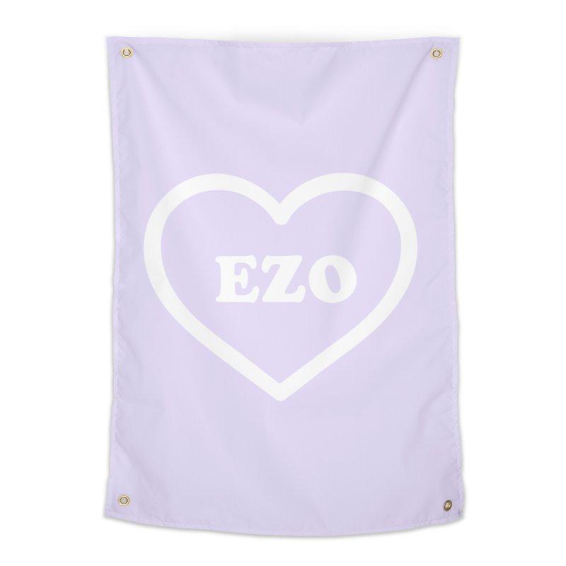 EZO HEART (pastel purple) Home Tapestry by ezo's Artist Shop