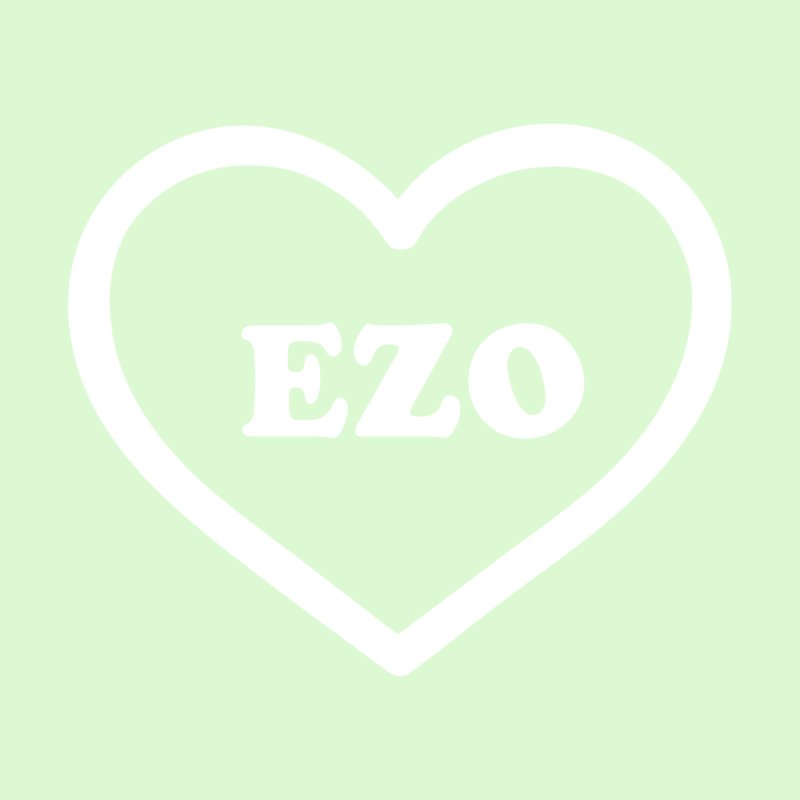 EZO HEART (pastel green) None  by ezo's Artist Shop