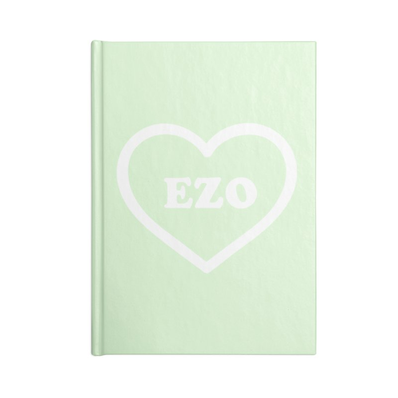 EZO HEART (pastel green) Accessories Notebook by ezo's Artist Shop