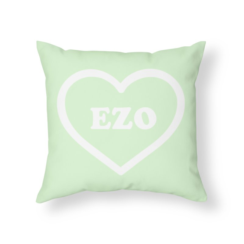 EZO HEART (pastel green) Home Throw Pillow by ezo's Artist Shop