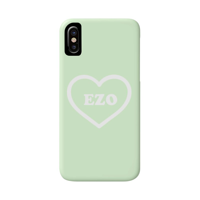 EZO HEART (pastel green) Accessories Phone Case by ezo's Artist Shop
