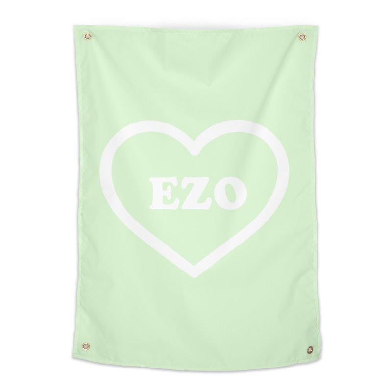 EZO HEART (pastel green) Home Tapestry by ezo's Artist Shop