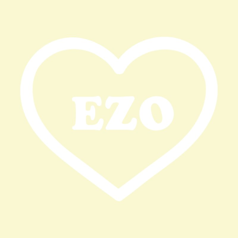 EZO HEART (pastel yellow) None  by ezo's Artist Shop