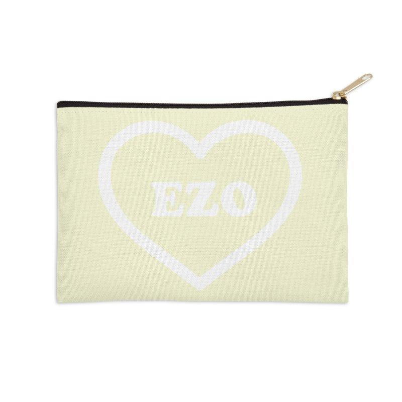EZO HEART (pastel yellow) Accessories Zip Pouch by ezo's Artist Shop