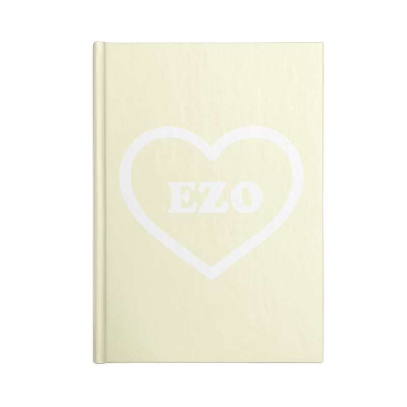 EZO HEART (pastel yellow) Accessories Lined Journal Notebook by ezo's Artist Shop