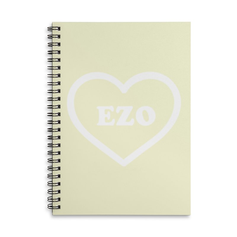 EZO HEART (pastel yellow) Accessories Lined Spiral Notebook by ezo's Artist Shop