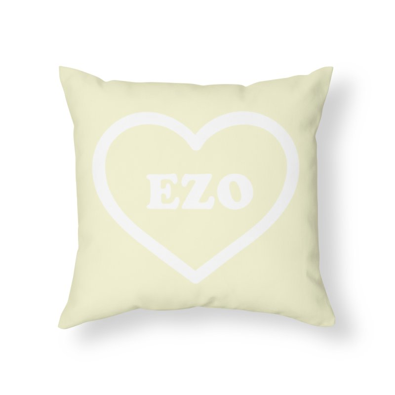 EZO HEART (pastel yellow) Home Throw Pillow by ezo's Artist Shop
