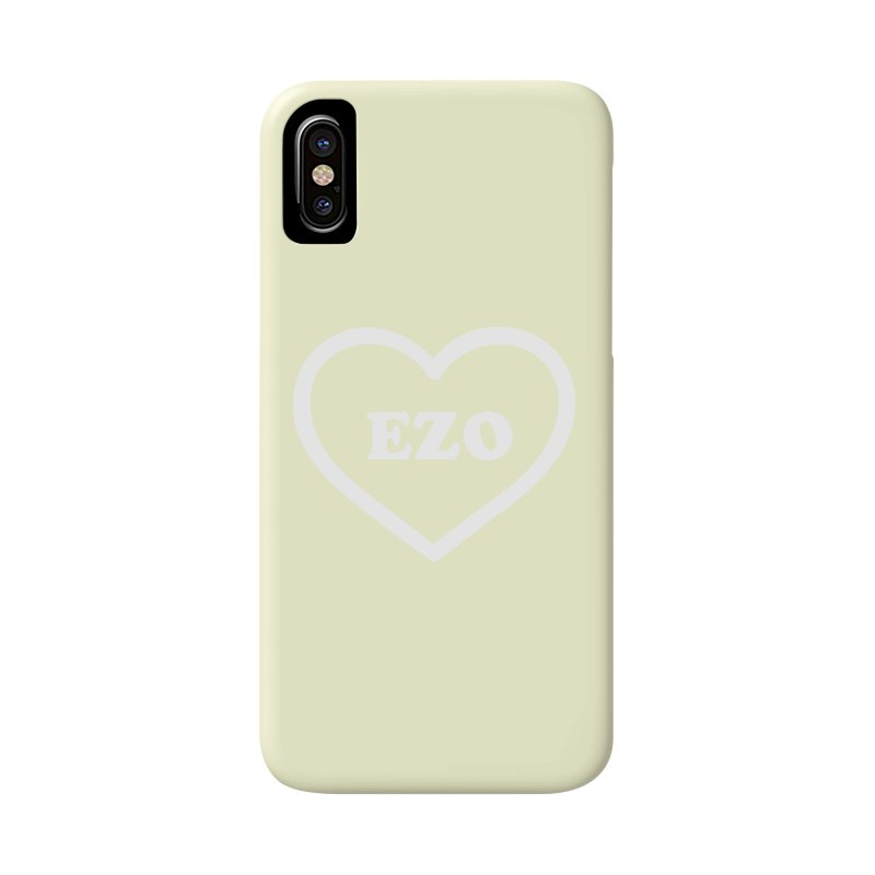 EZO HEART (pastel yellow) Accessories Phone Case by ezo's Artist Shop