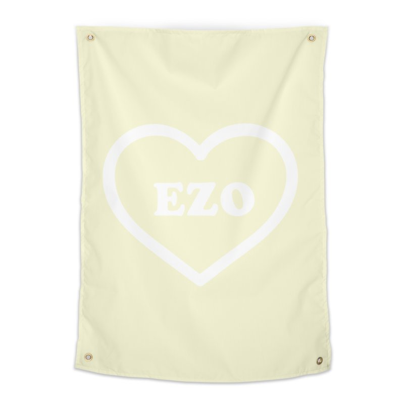 EZO HEART (pastel yellow) Home Tapestry by ezo's Artist Shop