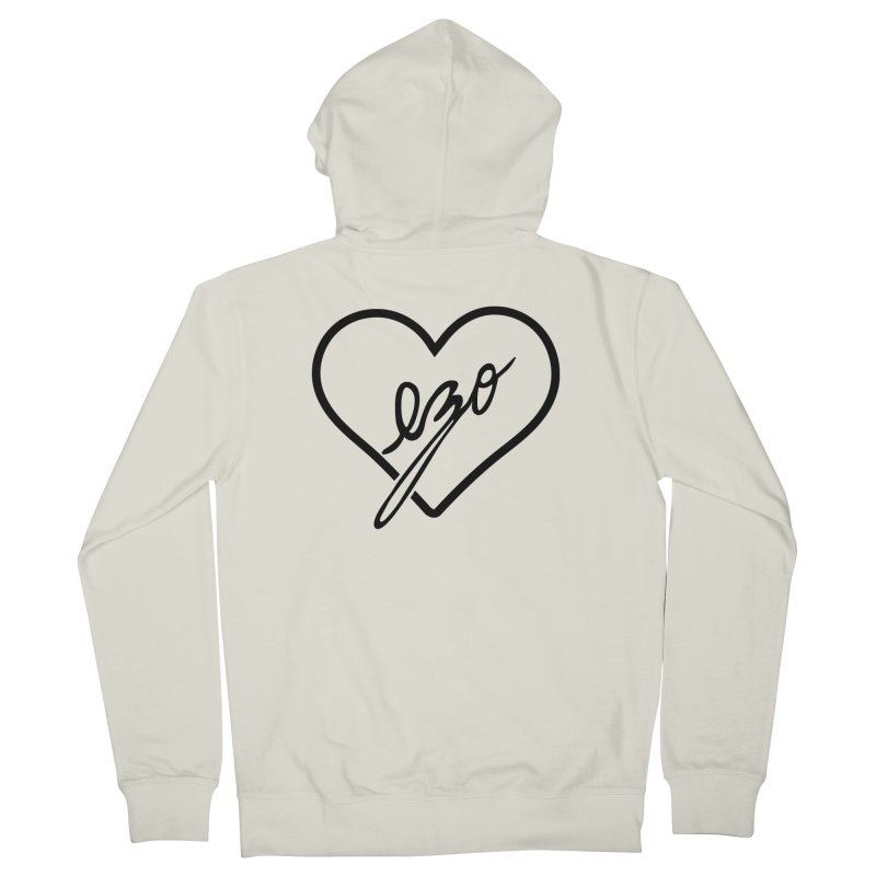 EZO LOVE Men's French Terry Zip-Up Hoody by ezo's Artist Shop