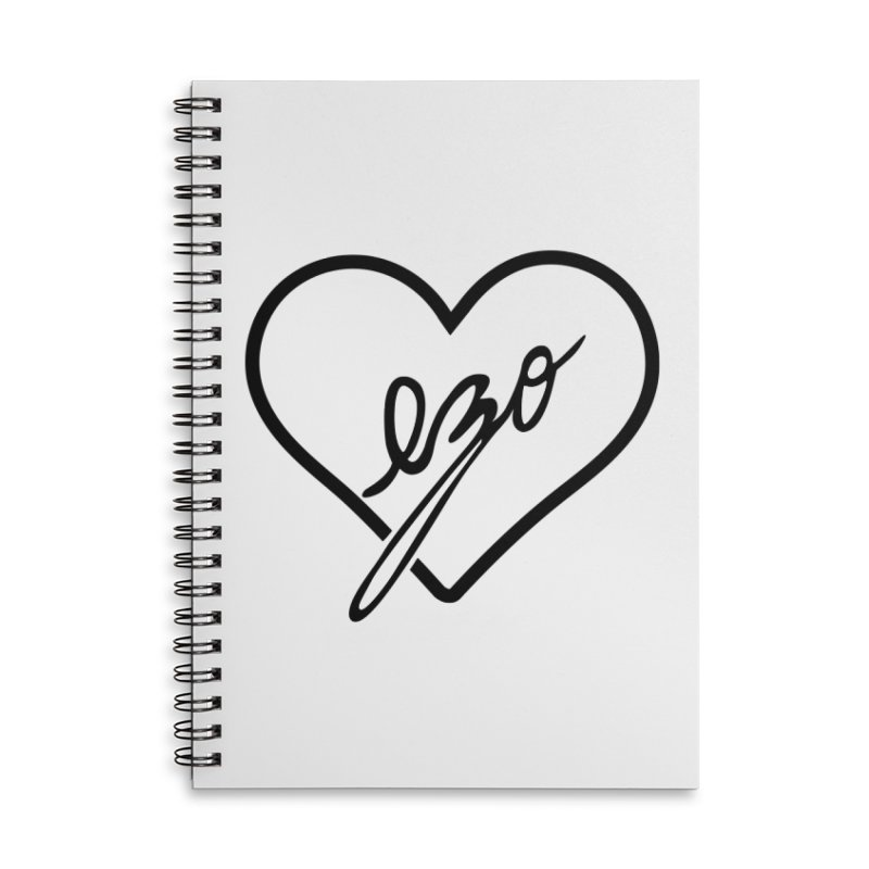 EZO LOVE Accessories Lined Spiral Notebook by ezo's Artist Shop