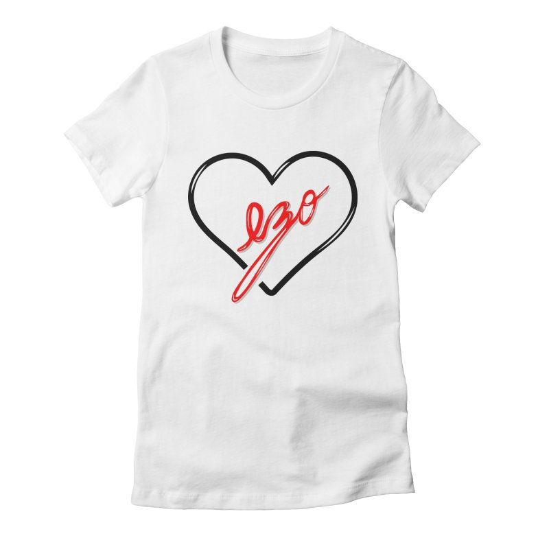 EZO LOVE Women's Fitted T-Shirt by ezo's Artist Shop