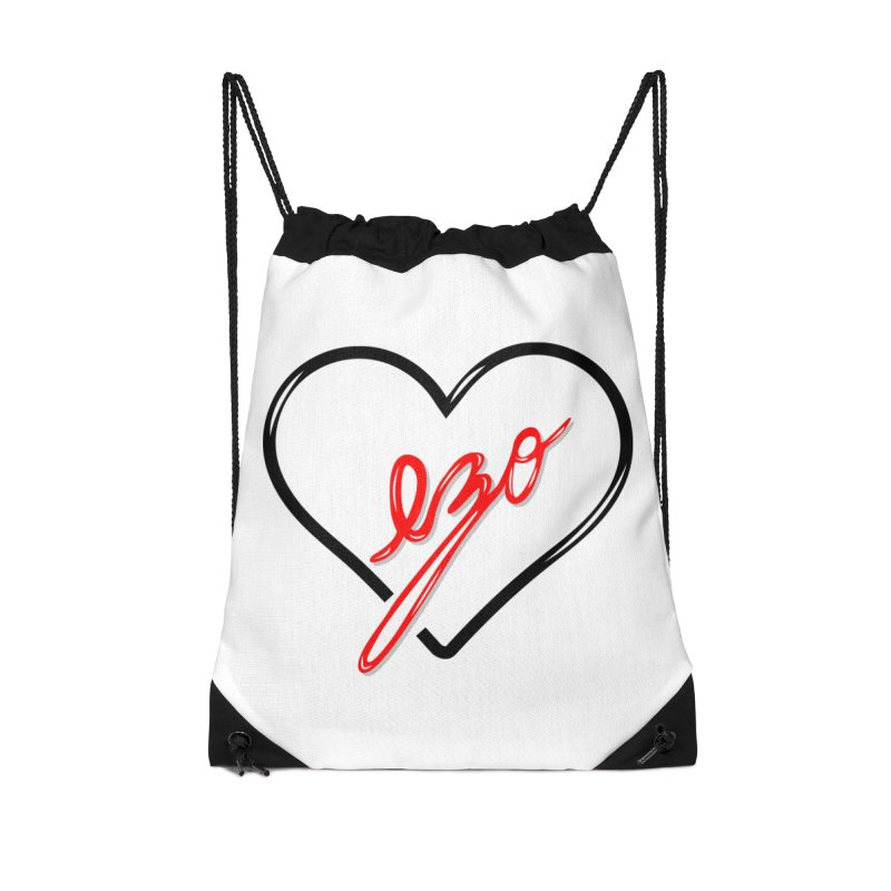 EZO LOVE Accessories Drawstring Bag Bag by ezo's Artist Shop