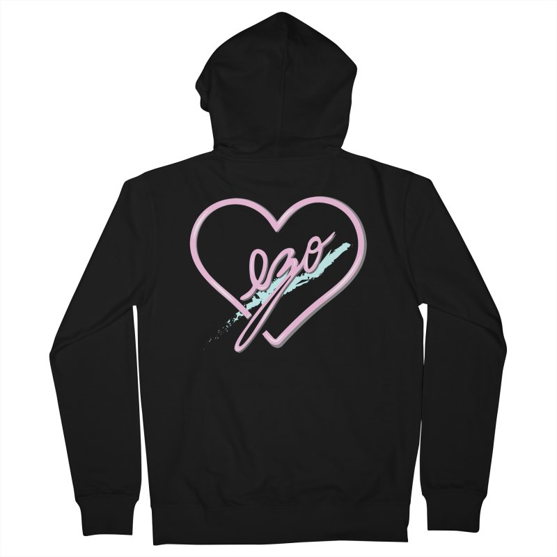 EZO 90'S LOVE Women's Zip-Up Hoody by ezo's Artist Shop