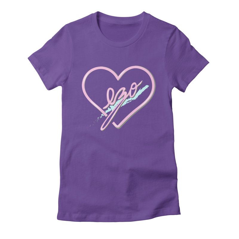 EZO 90'S LOVE Women's Fitted T-Shirt by ezo's Artist Shop