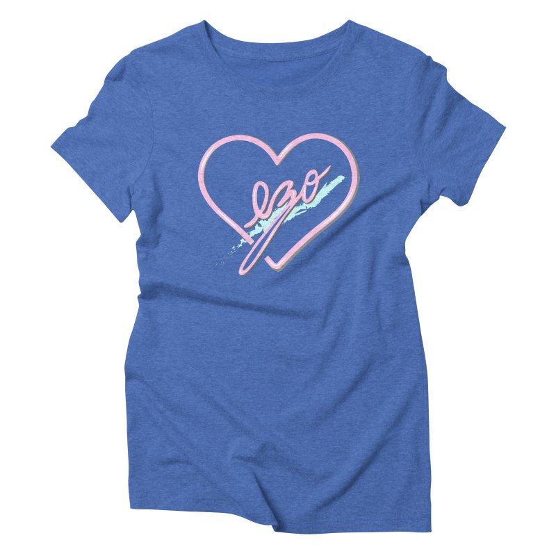 EZO 90'S LOVE Women's Triblend T-Shirt by ezo's Artist Shop