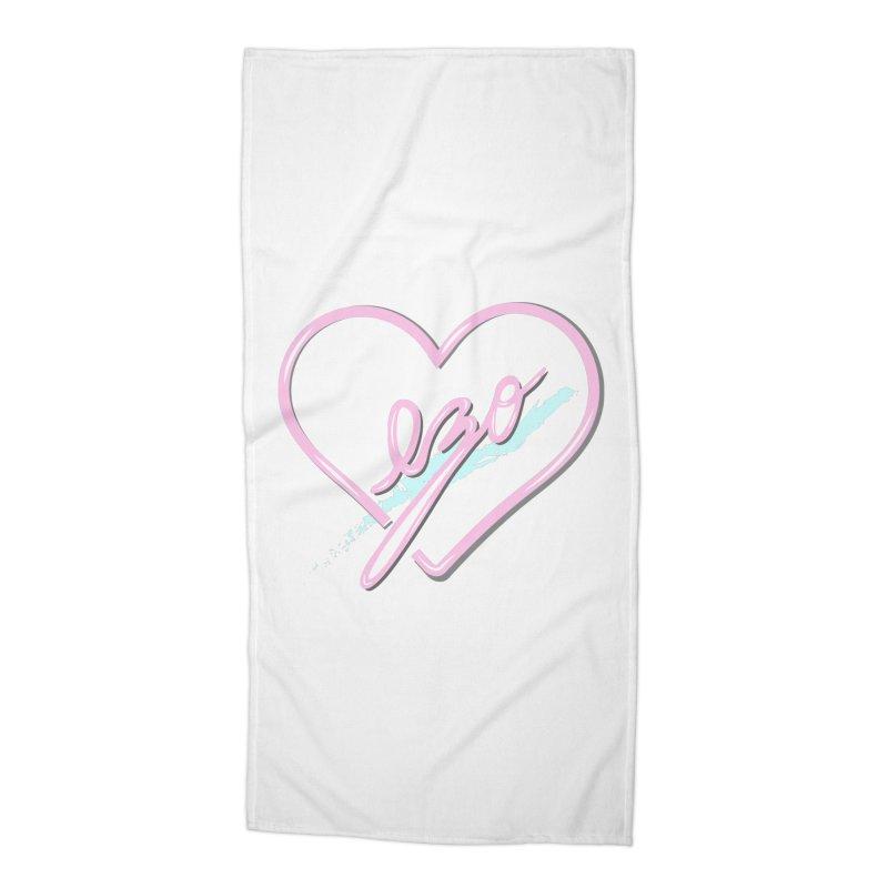 EZO 90'S LOVE Accessories Beach Towel by ezo's Artist Shop