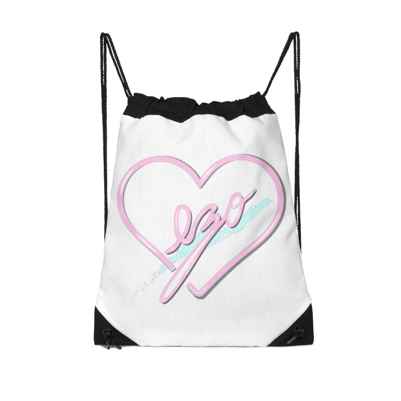 EZO 90'S LOVE Accessories Drawstring Bag Bag by ezo's Artist Shop