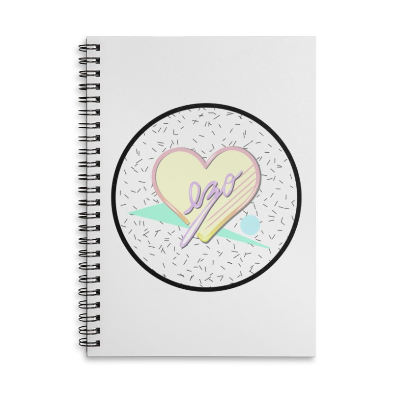 Totally 90's Ezo! Accessories Lined Spiral Notebook by ezo's Artist Shop
