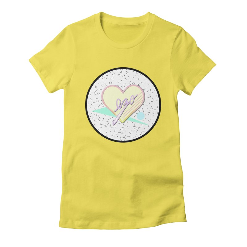 Totally 90's Ezo! Women's Fitted T-Shirt by ezo's Artist Shop