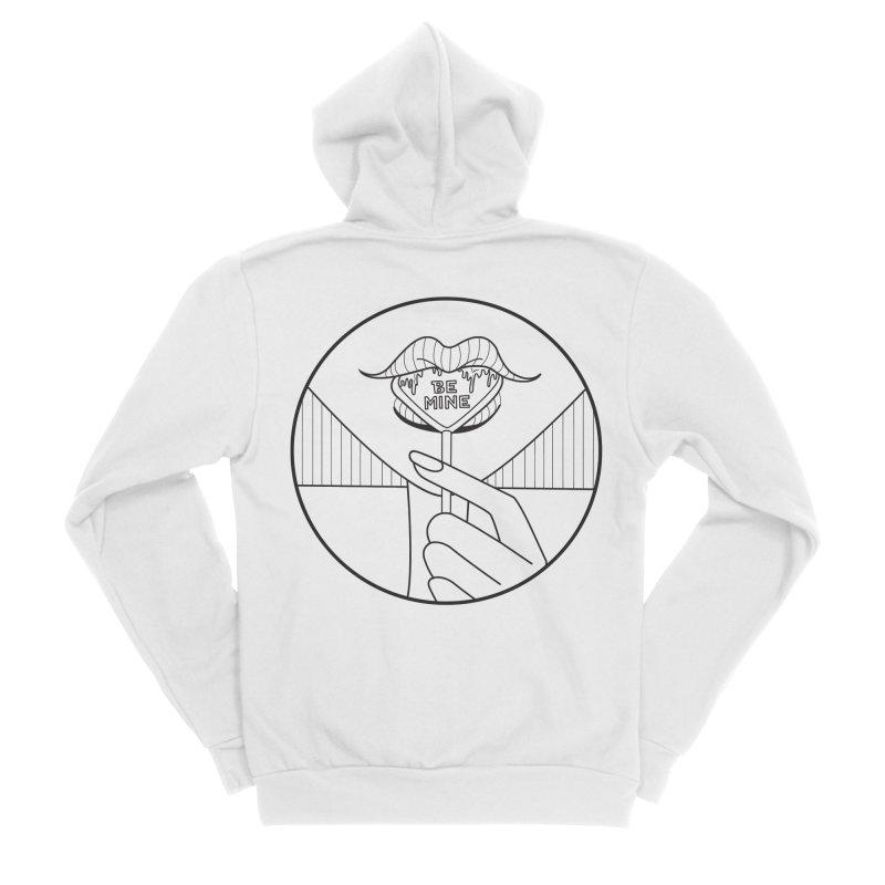 BE MINE Women's Sponge Fleece Zip-Up Hoody by ezo's Artist Shop