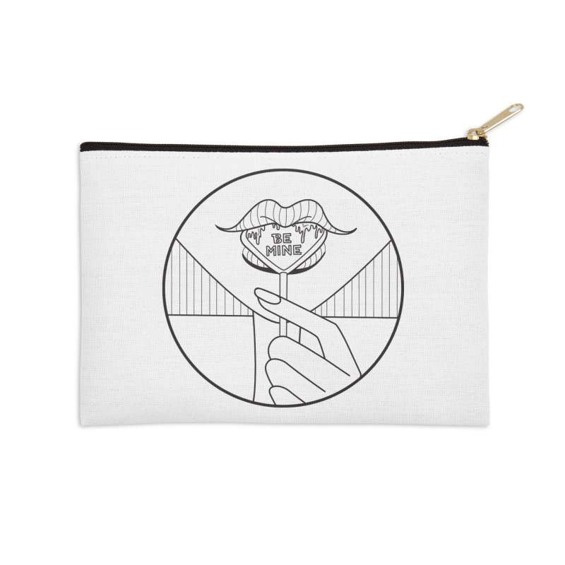 BE MINE Accessories Zip Pouch by ezo's Artist Shop
