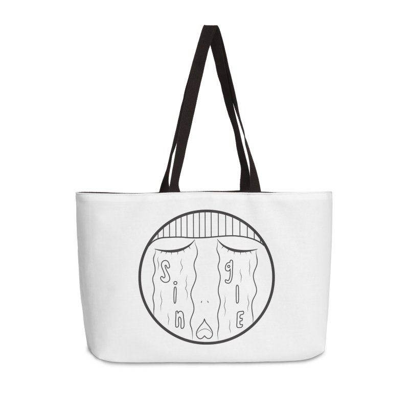 Single On Vday Accessories Weekender Bag Bag by ezo's Artist Shop